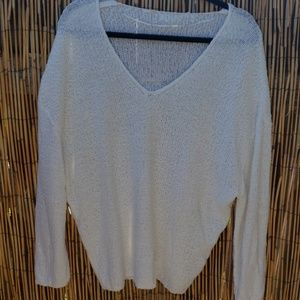 Urban outfitters soft white knit sweater